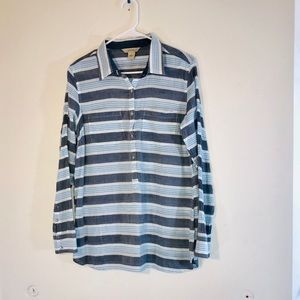 Natural Reflections Striped Long Sleeve Shirt